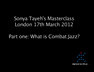 Sonya Tayeh Combat Jazz masterclass London part 1